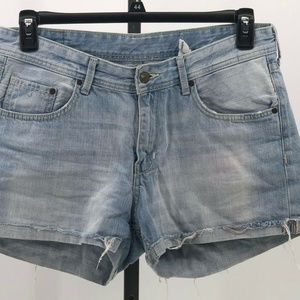 H&M denim cuffed jean shorts womens sz 8